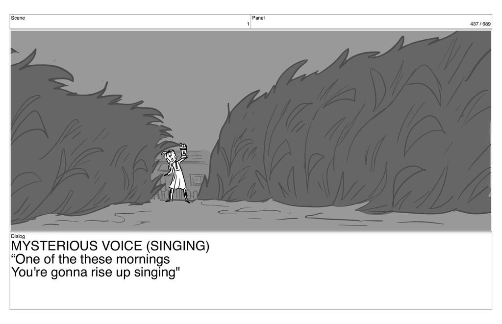 Scene 1 Panel 437 / 689 Dialog MYSTERIOUS VOICE...