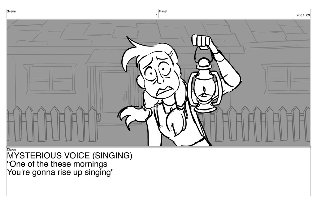Scene 1 Panel 438 / 689 Dialog MYSTERIOUS VOICE...