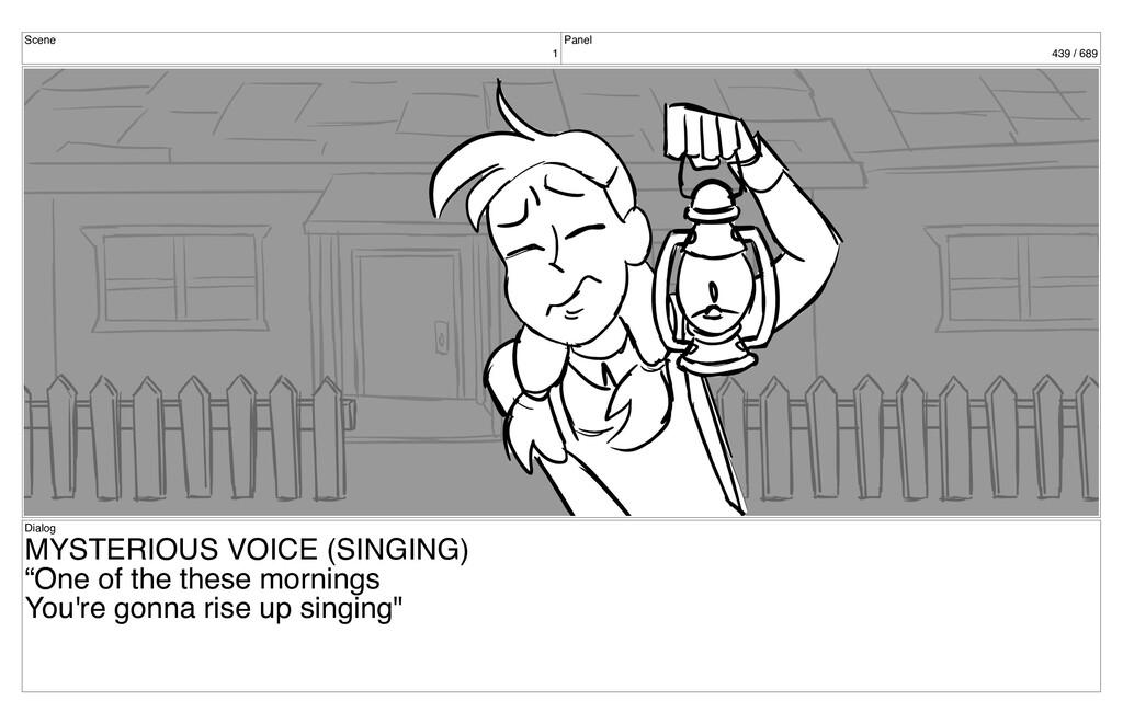 Scene 1 Panel 439 / 689 Dialog MYSTERIOUS VOICE...