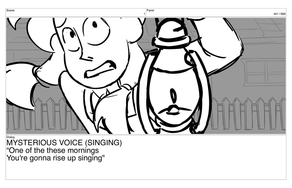 Scene 1 Panel 441 / 689 Dialog MYSTERIOUS VOICE...