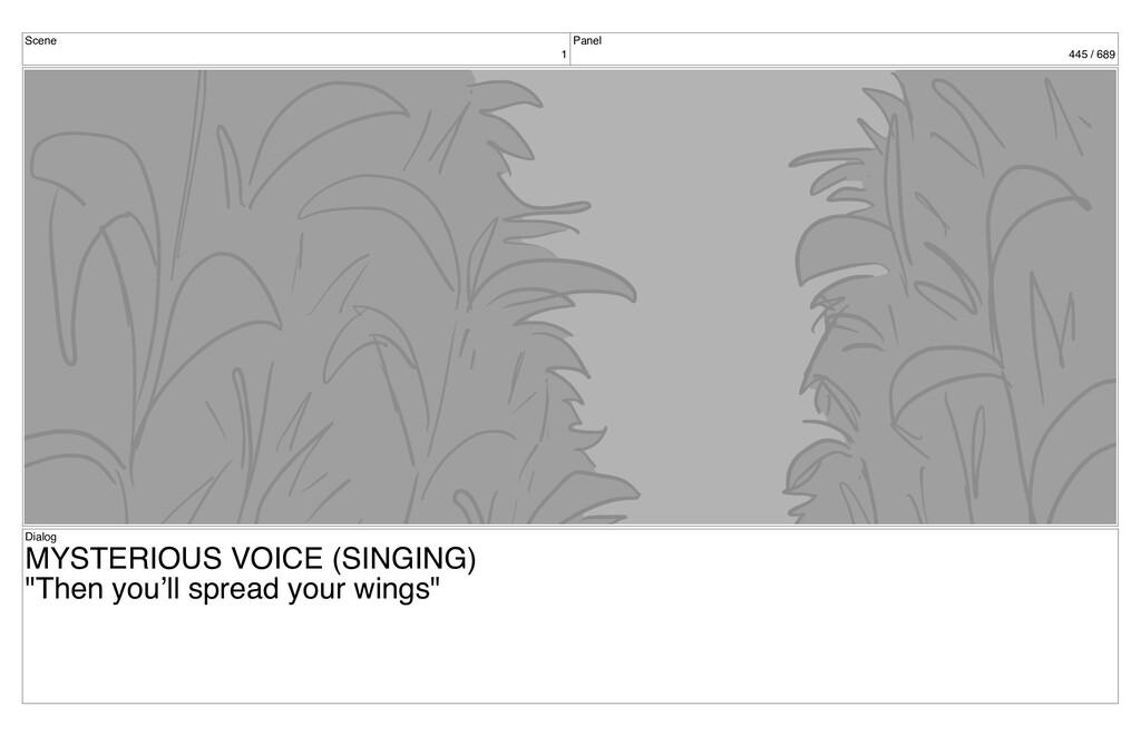 Scene 1 Panel 445 / 689 Dialog MYSTERIOUS VOICE...