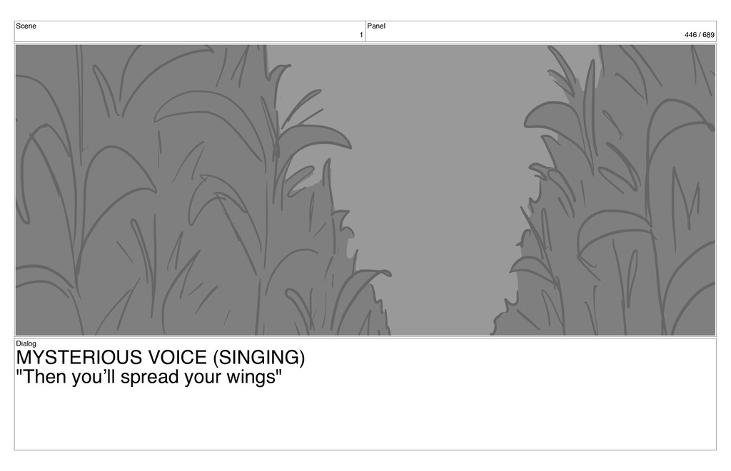 Scene 1 Panel 446 / 689 Dialog MYSTERIOUS VOICE...