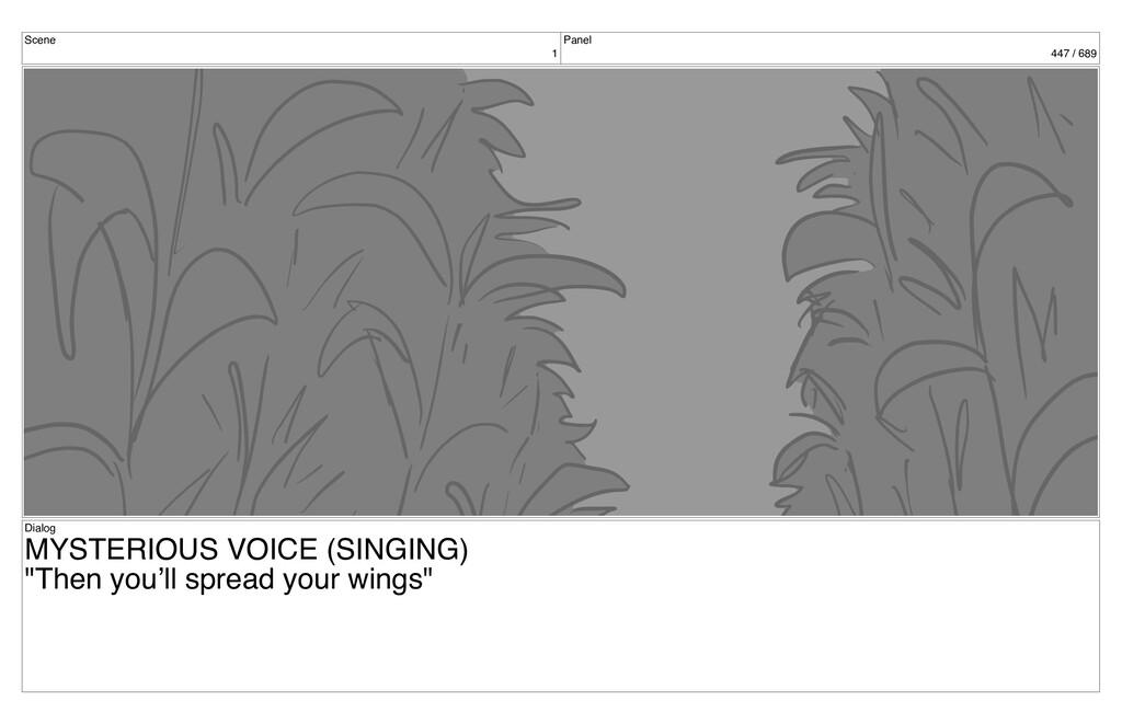 Scene 1 Panel 447 / 689 Dialog MYSTERIOUS VOICE...