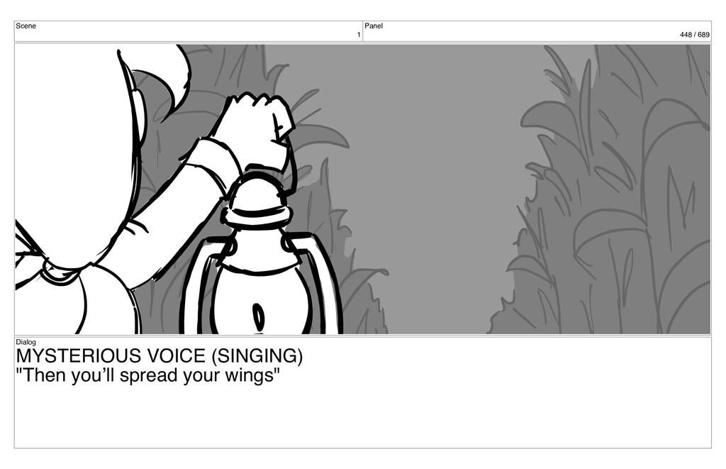 Scene 1 Panel 448 / 689 Dialog MYSTERIOUS VOICE...