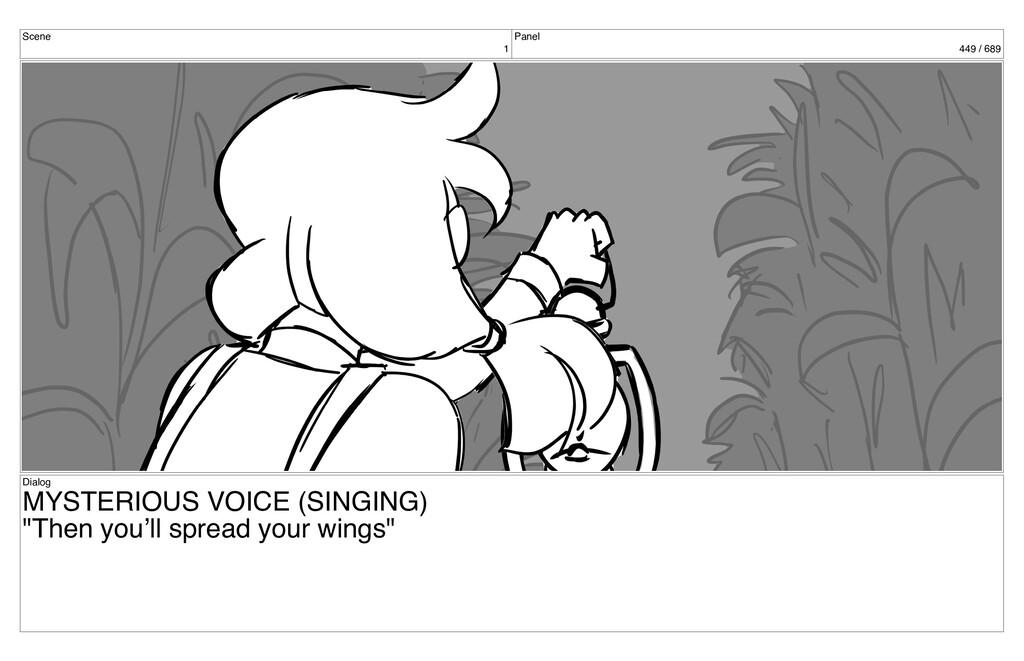 Scene 1 Panel 449 / 689 Dialog MYSTERIOUS VOICE...