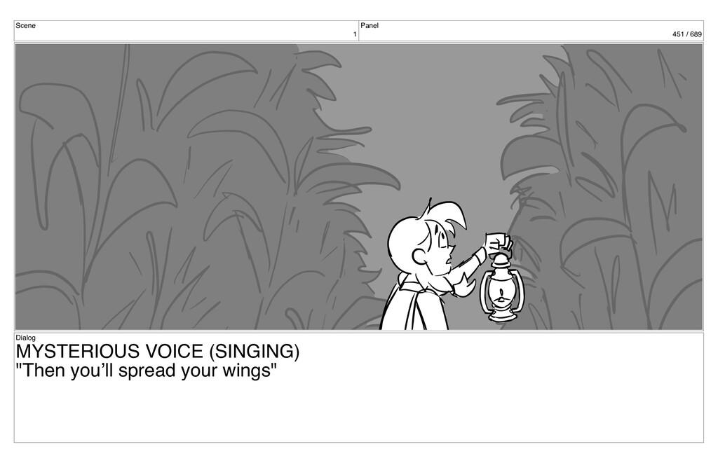 Scene 1 Panel 451 / 689 Dialog MYSTERIOUS VOICE...