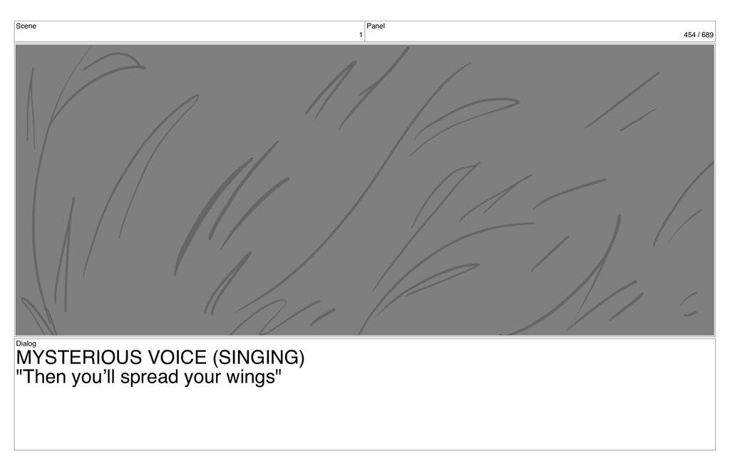 Scene 1 Panel 454 / 689 Dialog MYSTERIOUS VOICE...
