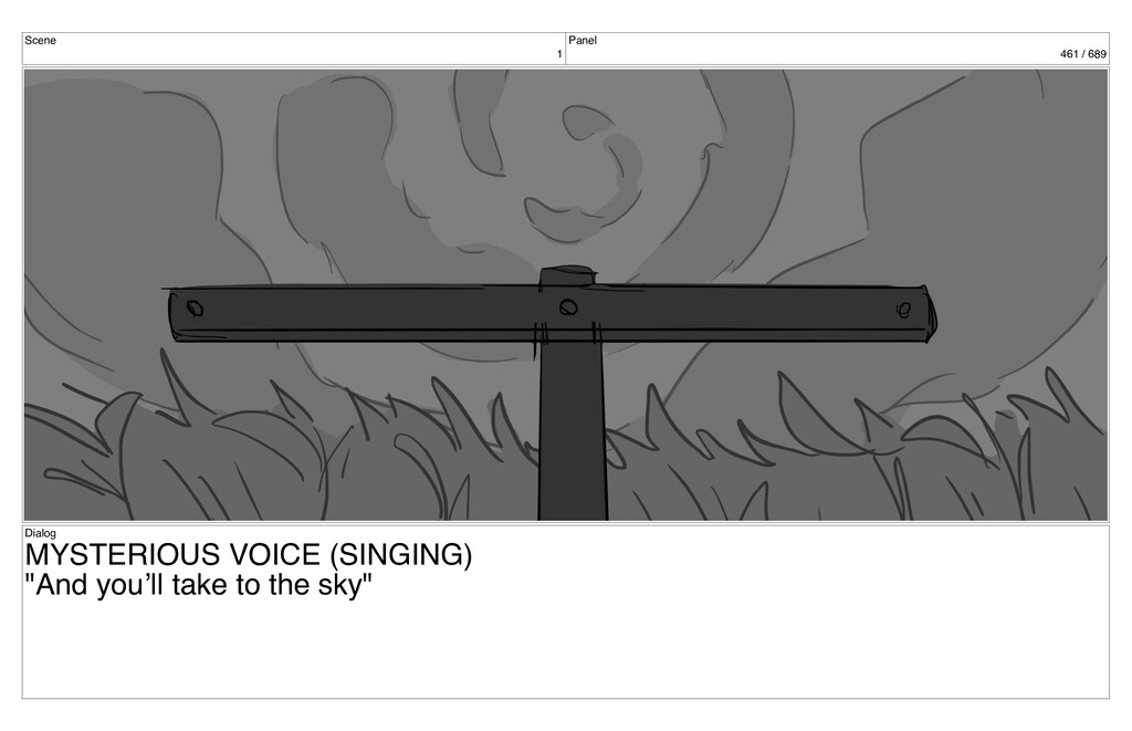 Scene 1 Panel 461 / 689 Dialog MYSTERIOUS VOICE...