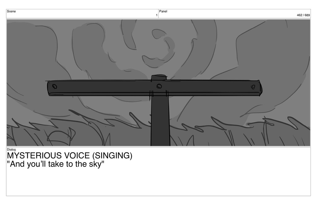 Scene 1 Panel 462 / 689 Dialog MYSTERIOUS VOICE...