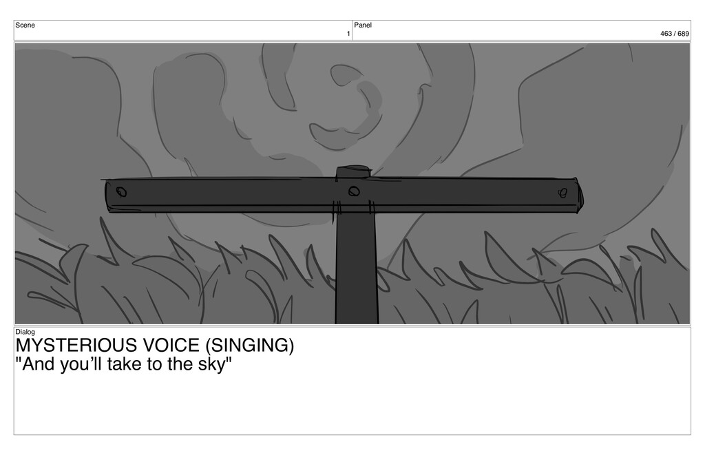 Scene 1 Panel 463 / 689 Dialog MYSTERIOUS VOICE...
