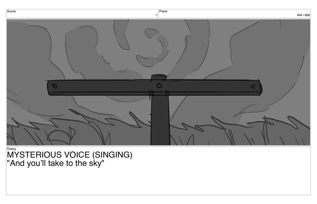 Scene 1 Panel 464 / 689 Dialog MYSTERIOUS VOICE...