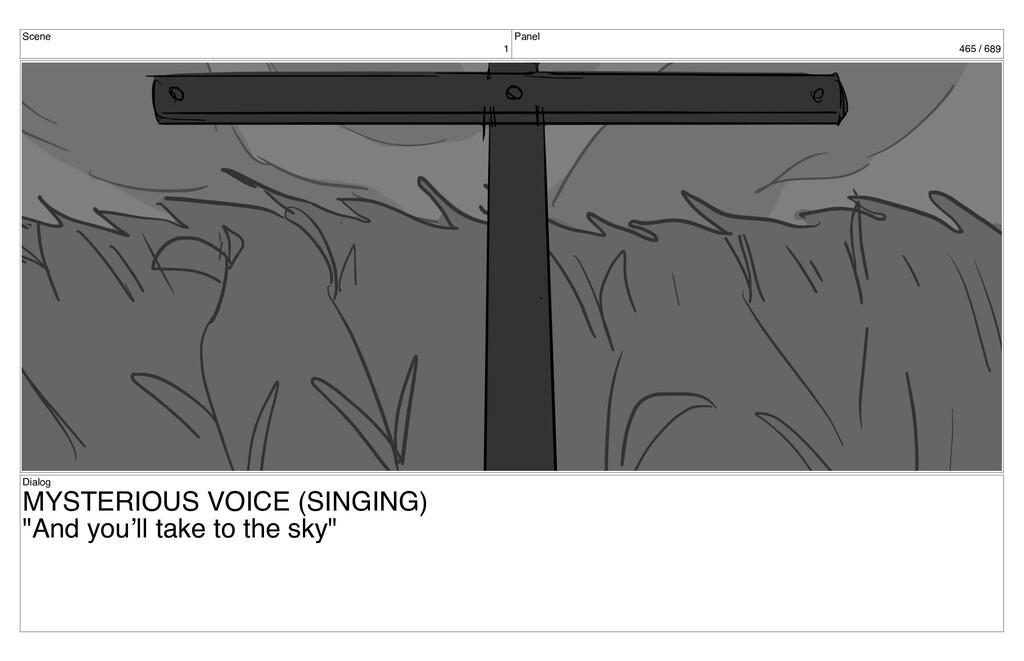 Scene 1 Panel 465 / 689 Dialog MYSTERIOUS VOICE...