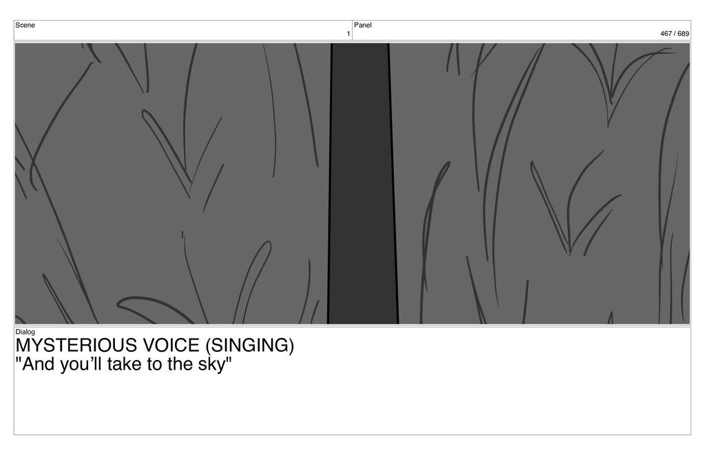 Scene 1 Panel 467 / 689 Dialog MYSTERIOUS VOICE...