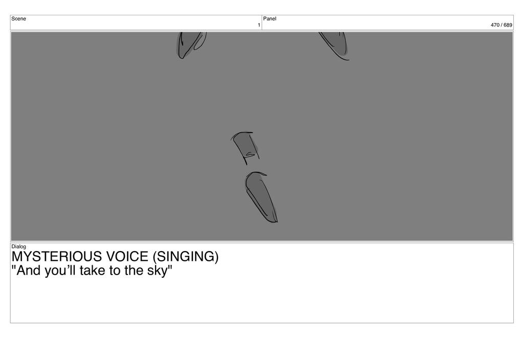 Scene 1 Panel 470 / 689 Dialog MYSTERIOUS VOICE...