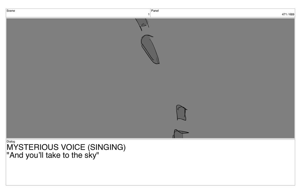 Scene 1 Panel 471 / 689 Dialog MYSTERIOUS VOICE...