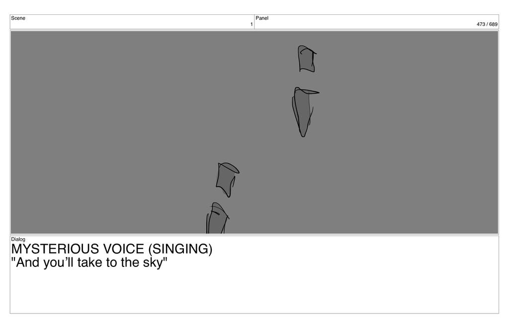Scene 1 Panel 473 / 689 Dialog MYSTERIOUS VOICE...