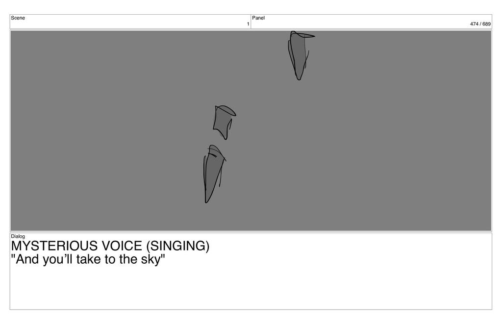 Scene 1 Panel 474 / 689 Dialog MYSTERIOUS VOICE...