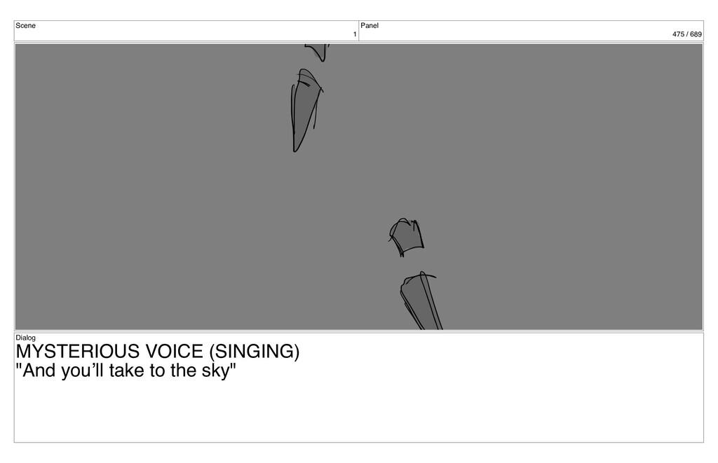 Scene 1 Panel 475 / 689 Dialog MYSTERIOUS VOICE...