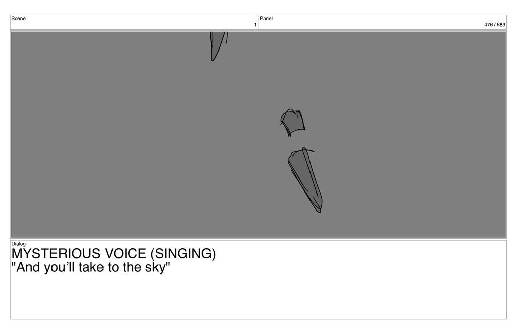 Scene 1 Panel 476 / 689 Dialog MYSTERIOUS VOICE...