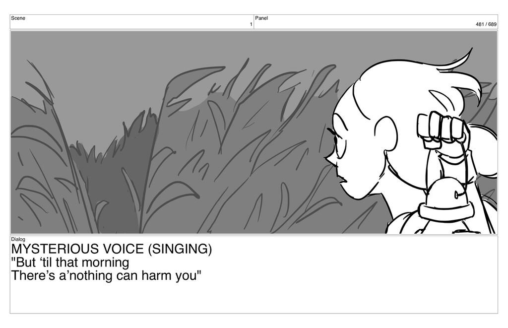 Scene 1 Panel 481 / 689 Dialog MYSTERIOUS VOICE...