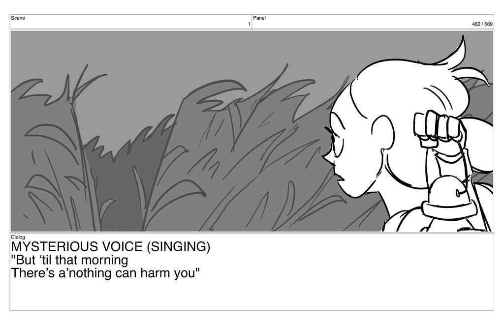 Scene 1 Panel 482 / 689 Dialog MYSTERIOUS VOICE...