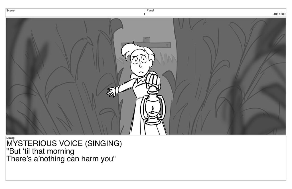 Scene 1 Panel 485 / 689 Dialog MYSTERIOUS VOICE...