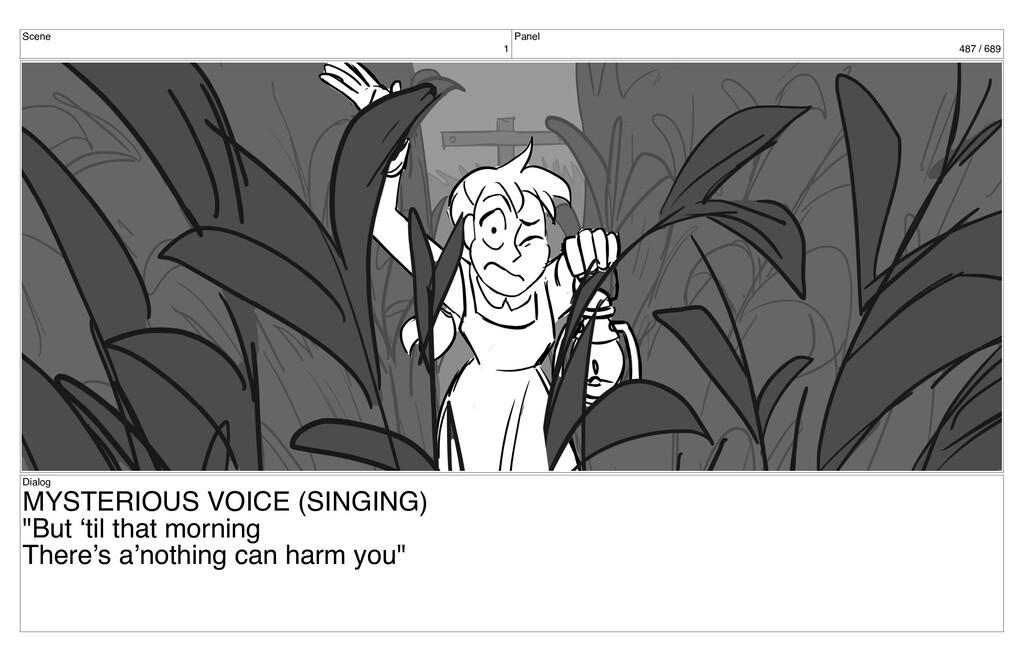 Scene 1 Panel 487 / 689 Dialog MYSTERIOUS VOICE...