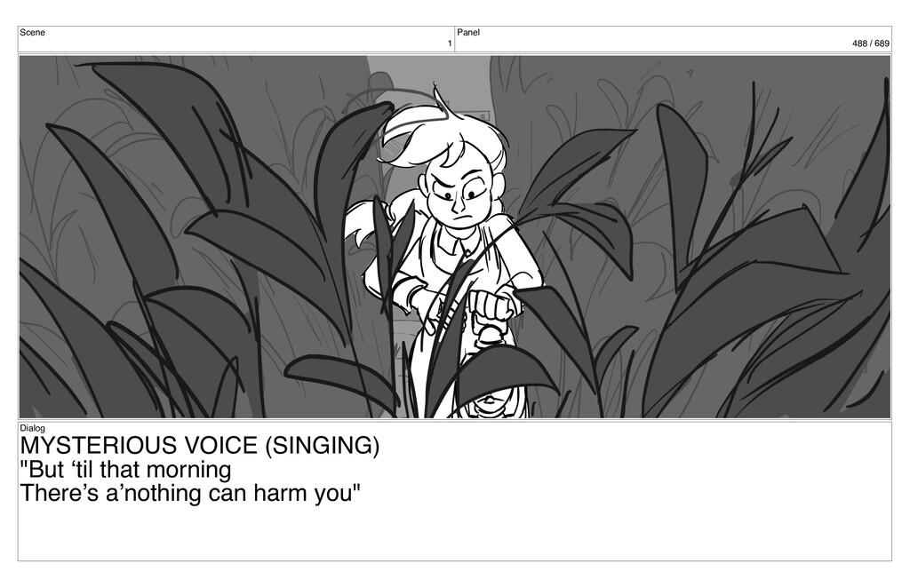Scene 1 Panel 488 / 689 Dialog MYSTERIOUS VOICE...