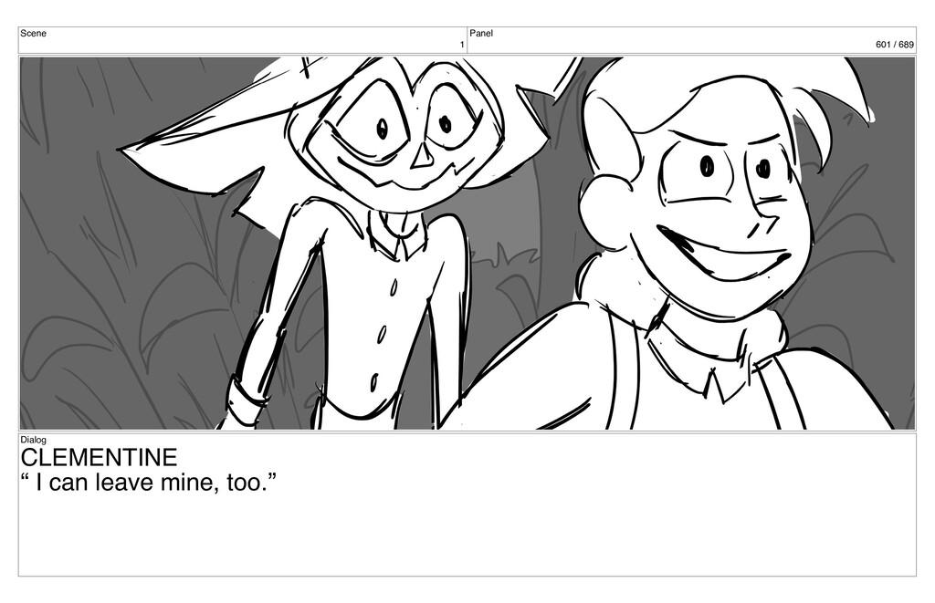 "Scene 1 Panel 601 / 689 Dialog CLEMENTINE "" I c..."