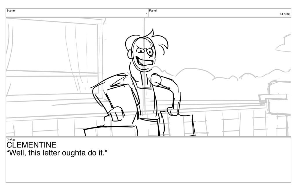 "Scene 1 Panel 94 / 689 Dialog CLEMENTINE ""Well,..."