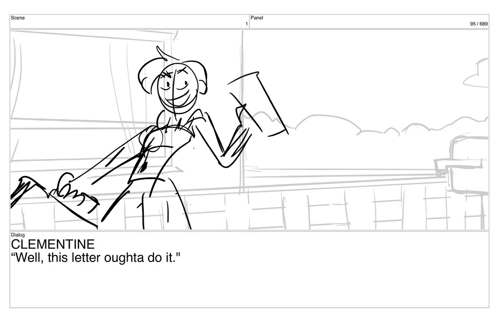 "Scene 1 Panel 95 / 689 Dialog CLEMENTINE ""Well,..."