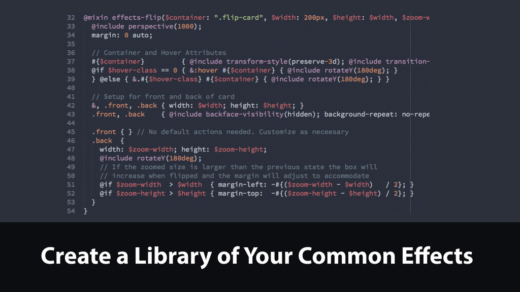 Create a Library of Your Common Effects