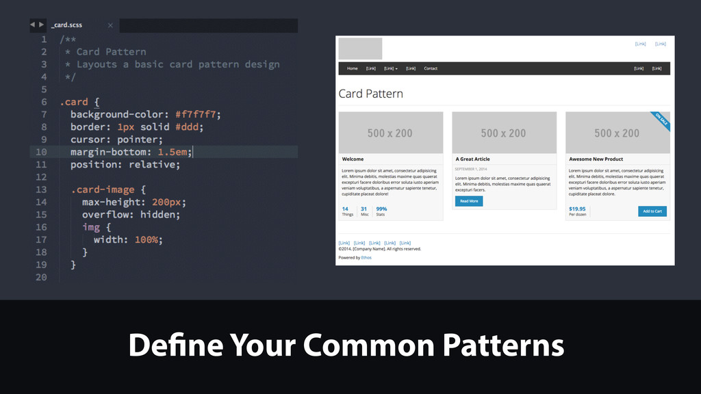 Define Your Common Patterns