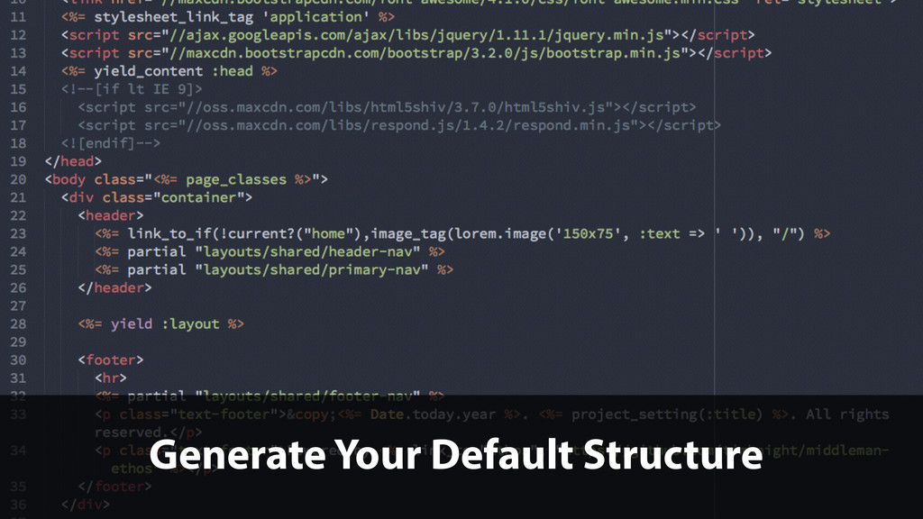 Generate Your Default Structure