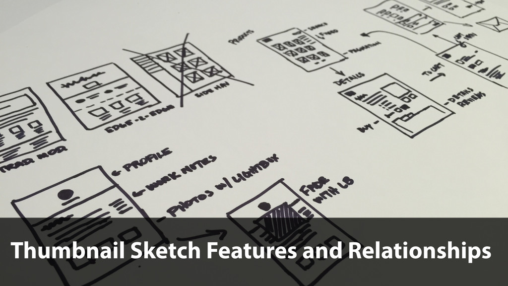 Thumbnail Sketch Features and Relationships