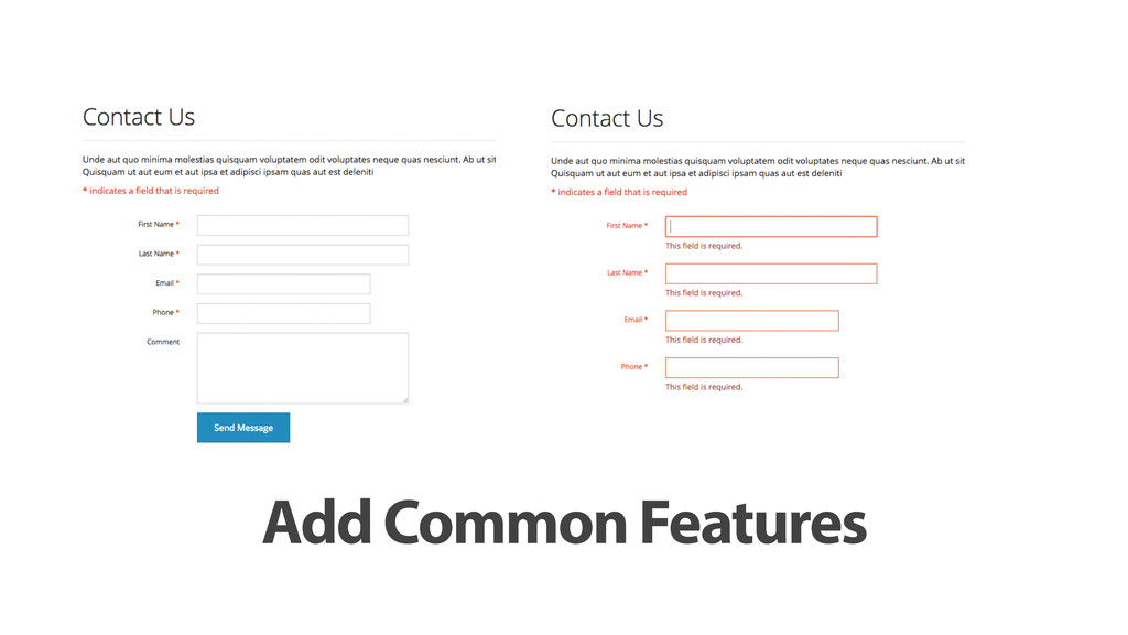 Add Common Features