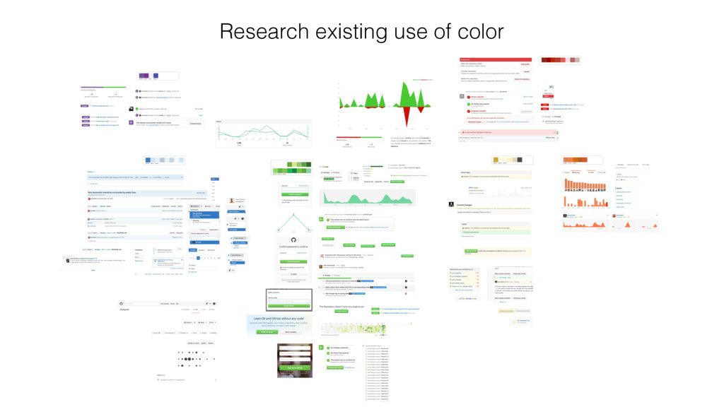 Research existing use of color