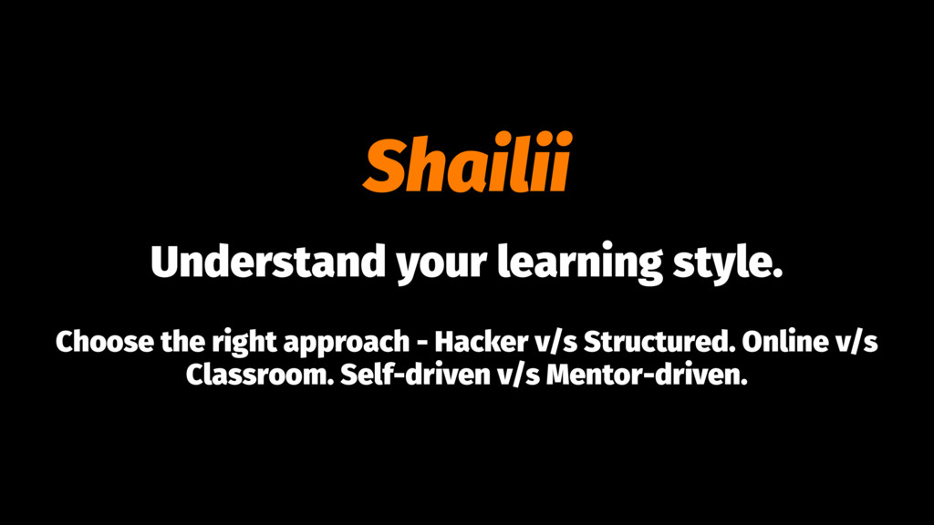 Shailii Understand your learning style. Choose ...