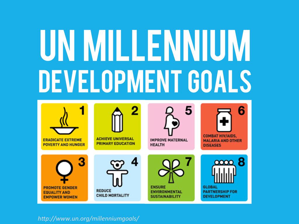 "UN Millennium DEVELOPMENT GOALS h""p://www.un.or..."