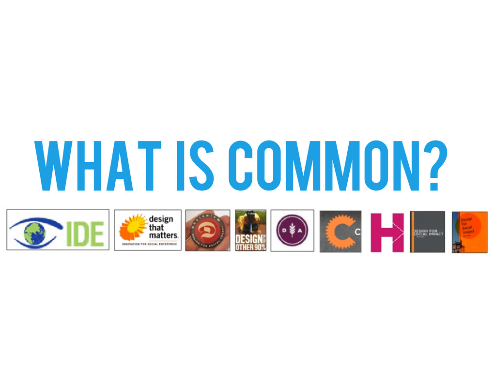 WHAT IS COMMON?