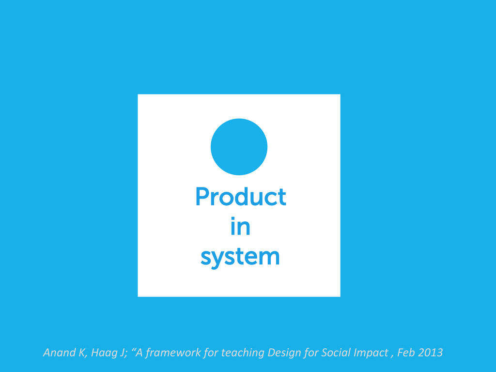 Product in system Anand K, Haag J; ...