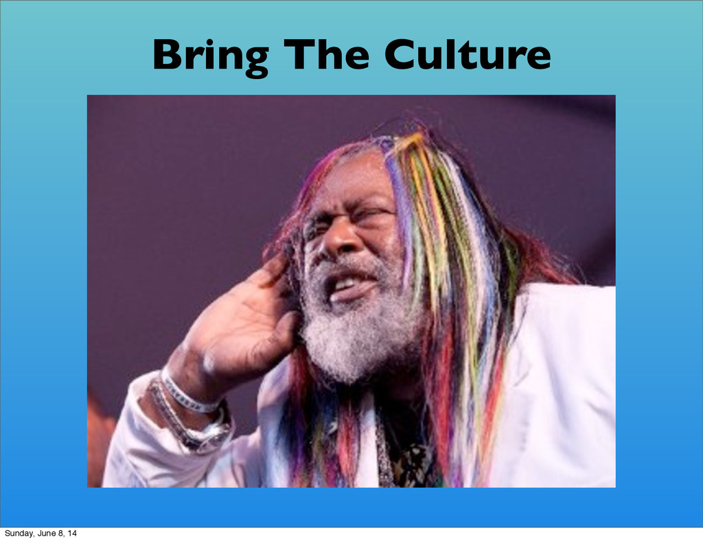 Bring The Culture Sunday, June 8, 14