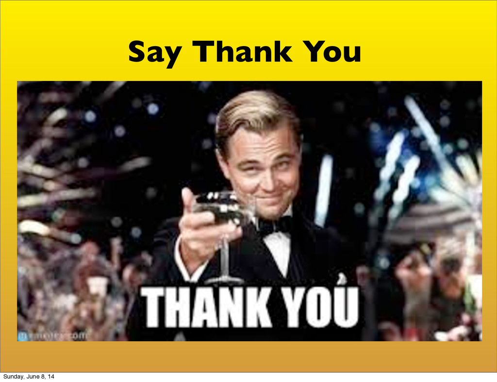 Say Thank You Sunday, June 8, 14