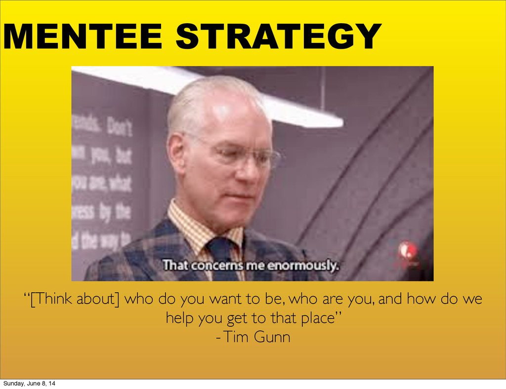 """MENTEE STRATEGY """"[Think about] who do you want ..."""