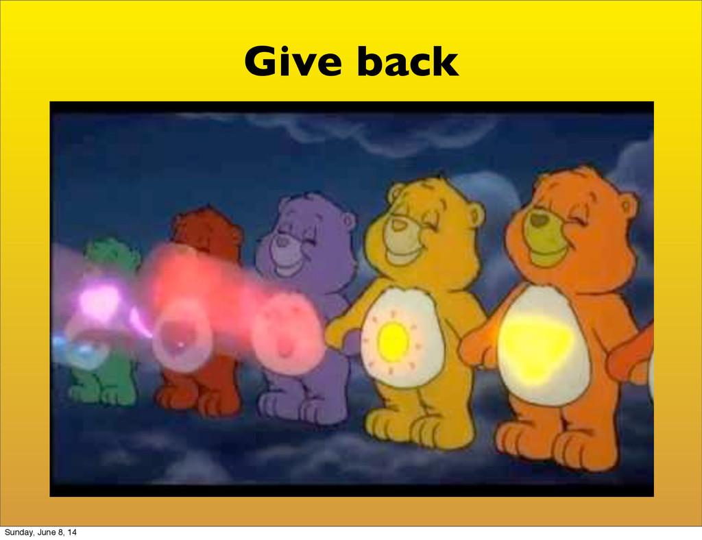 Give back Sunday, June 8, 14