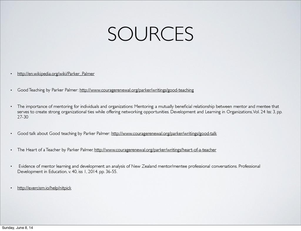SOURCES • http://en.wikipedia.org/wiki/Parker_P...