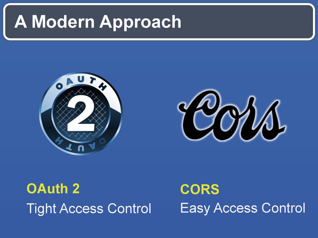 A Modern Approach CORS Easy Access Control OAut...