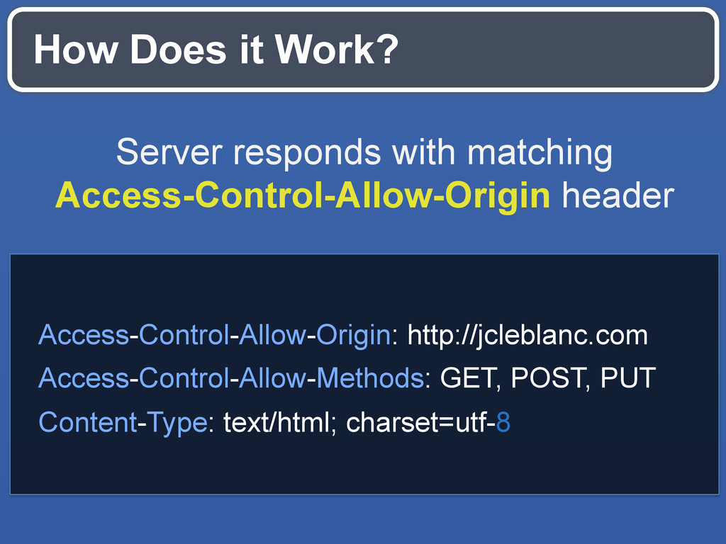 How Does it Work? Server responds with matching...