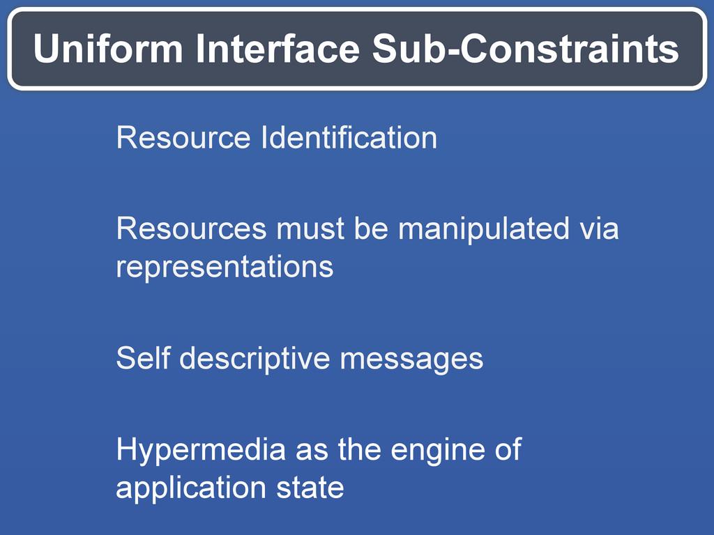 Uniform Interface Sub-Constraints Resource Iden...