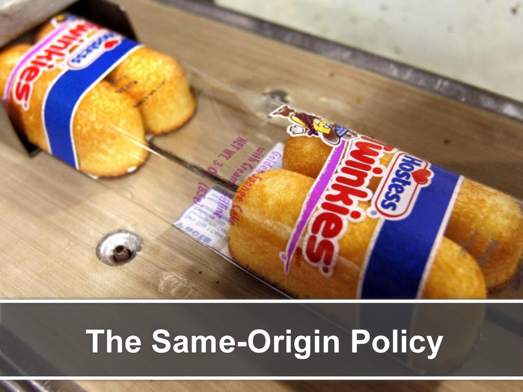 The Same-Origin Policy